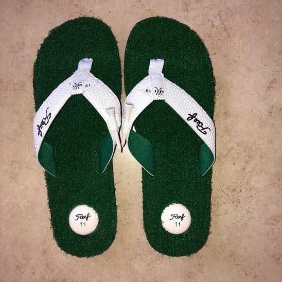 04ab82140b94 Reef Mulligan Golf Flip flops. M 5b884469477368831352a9ba